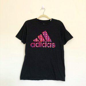 ADIDAS Black Crew Neck Basic T-Shirt